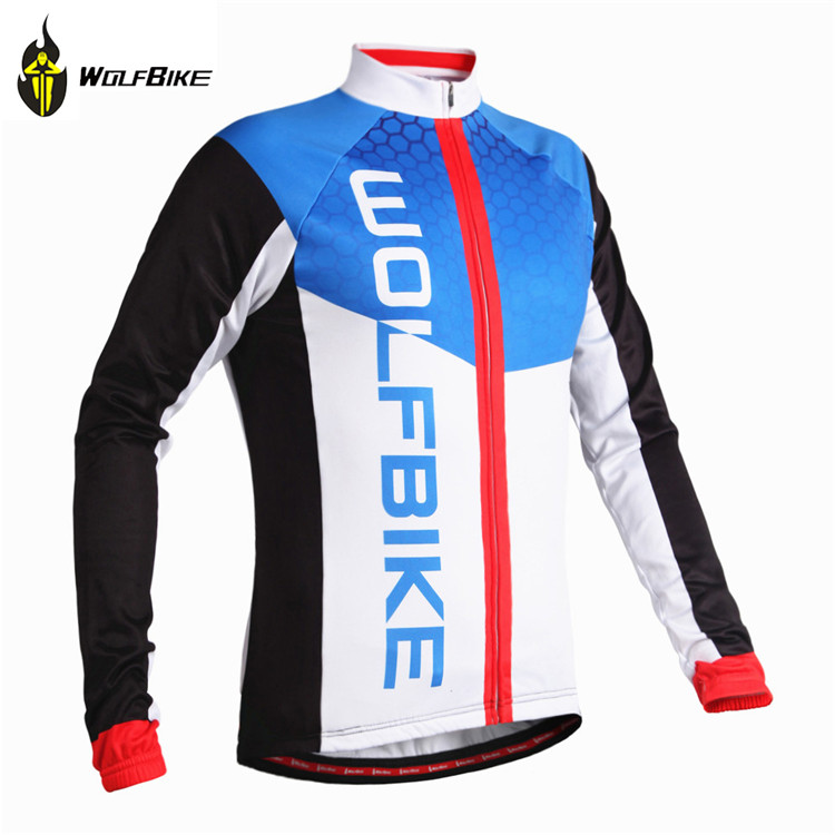 WOLFBIKE Thin Fleece Mountain Bike Long Sleeve Jersey Bicycle MTB Breathable Clothing Shirt Cycling Jersey camisa ciclismo<br><br>Aliexpress