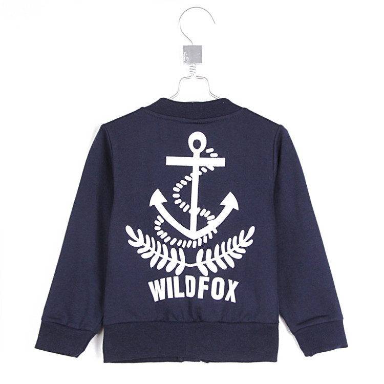 2015 autumn and winter navy style boys clothing baby child fleece cardigan A0489(China (Mainland))