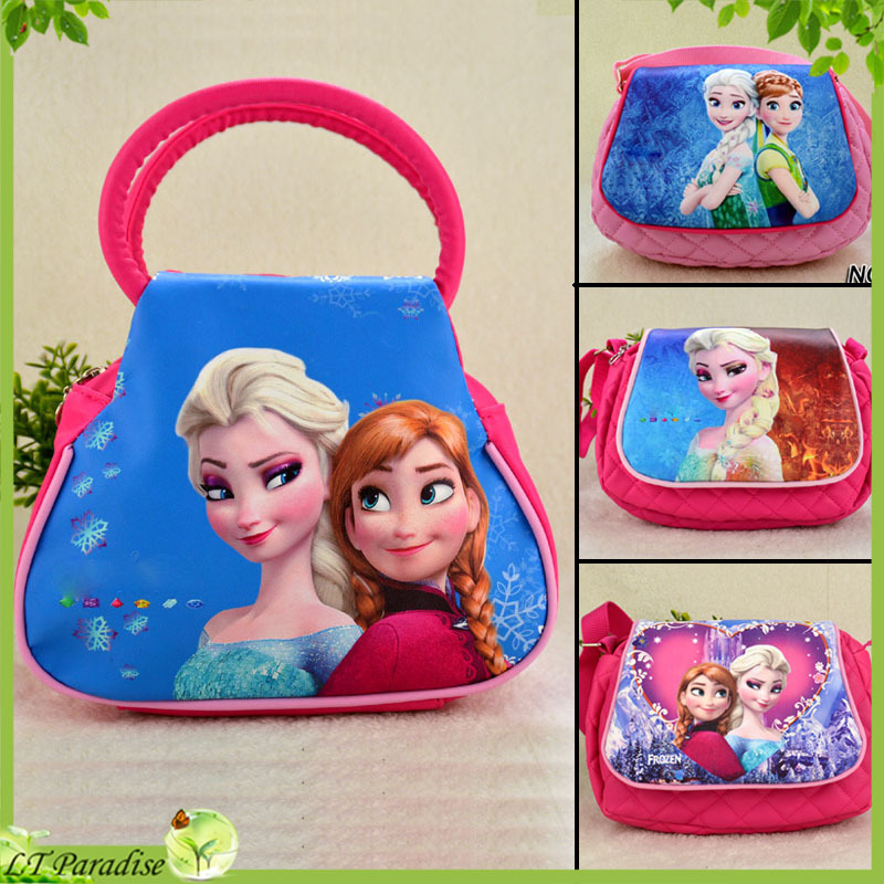 Soft PU Leather Coin Purse Mini Key Wallet Bag for Girls Princess Printing Kids Purse Bag Bolsa Infantil Kids Fanny Pack(China (Mainland))