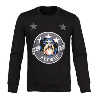 2015 perfect quality cotton velvet new winter 1952 fashion nugget Rottweiler five-star hedging Sweatshirts(China (Mainland))