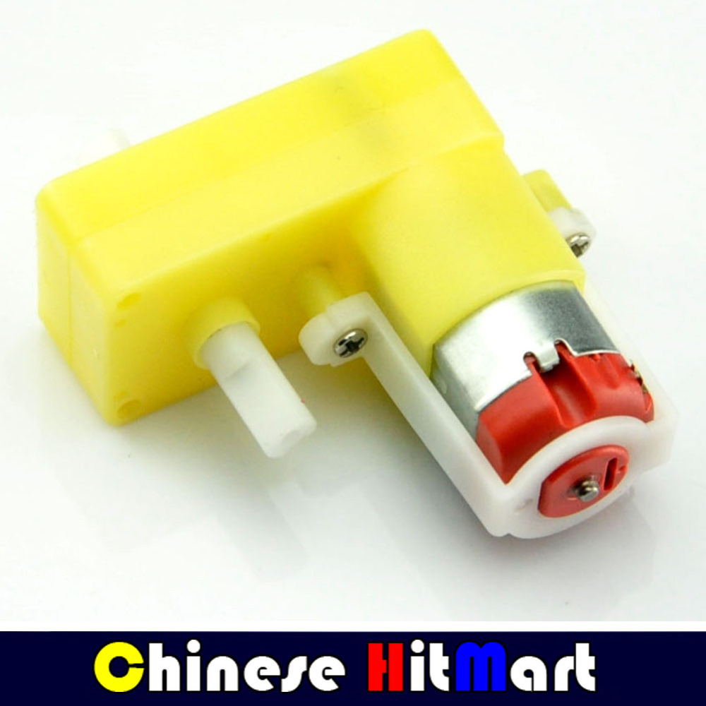 Wholesale 50pcs/lot gear motor 12v DC yellow 90 degree plastic gear 1:48 micro Gear Motor Steering Side Uniaxial DC TT#LR213(China (Mainland))