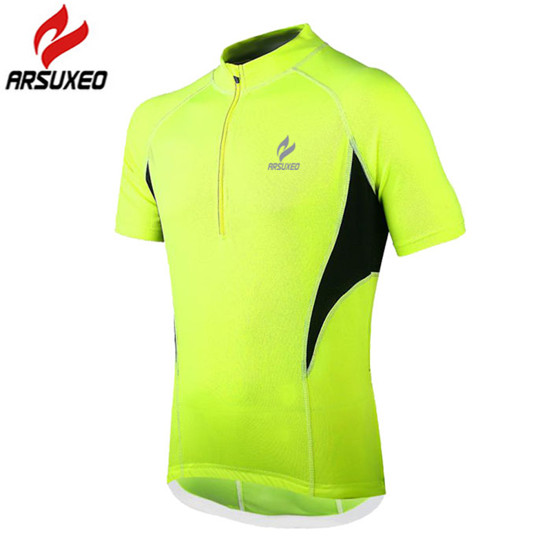 2016 ARSUXEO 3 Color Breathable Cycling Jersey Bike Bicycle Short Sleeves MTB Clothing Shirts Wear.Mountain Bike Jersey WG5113(China (Mainland))