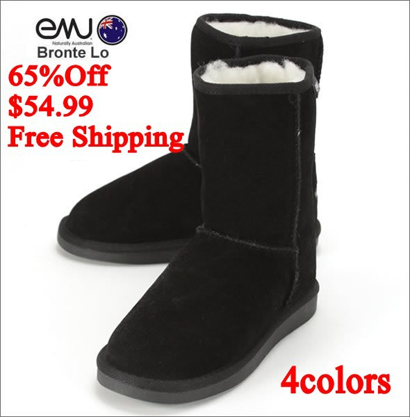 2014NEW EMU Bronte Lo(W20002) Cow-Suede Genuine with 100% Wool inner Winter Snow Boots 5color emu02hei<br><br>Aliexpress