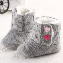 Free-Shipping New Fashion Children Princess Baby Shoes Cotton Padded Baby Boots Infant Toddler Girl's Bebe First Walkers Shoes(China (Mainland))