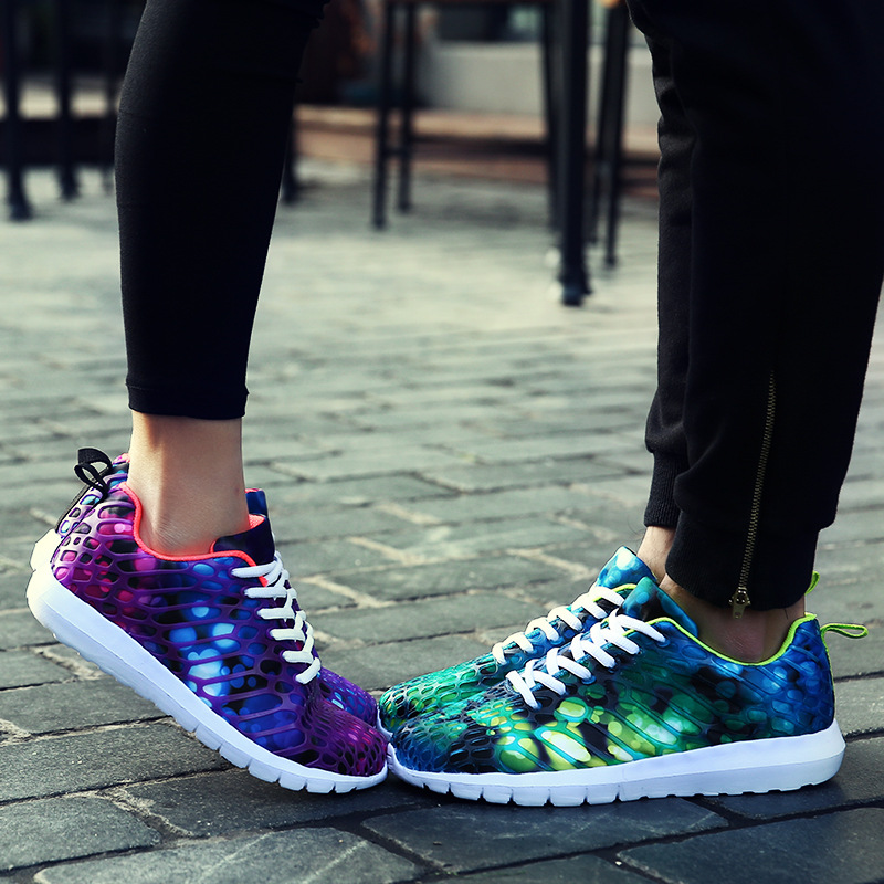 Breathable cozy men camouflage shoes 2016 fashion new Woman casual mesh shoes lover shoes(China (Mainland))