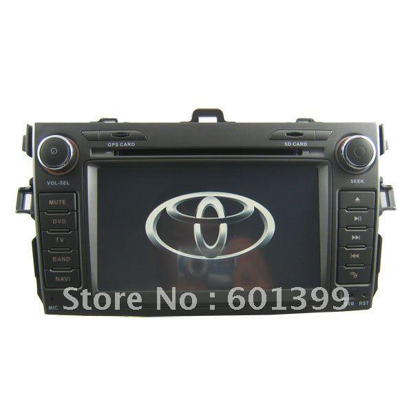 DVD+GPS+Bluetooth+Tv+Radio+Parking Sensor+Camera+CARD Car DVD Player for Toyota Corola(China (Mainland))