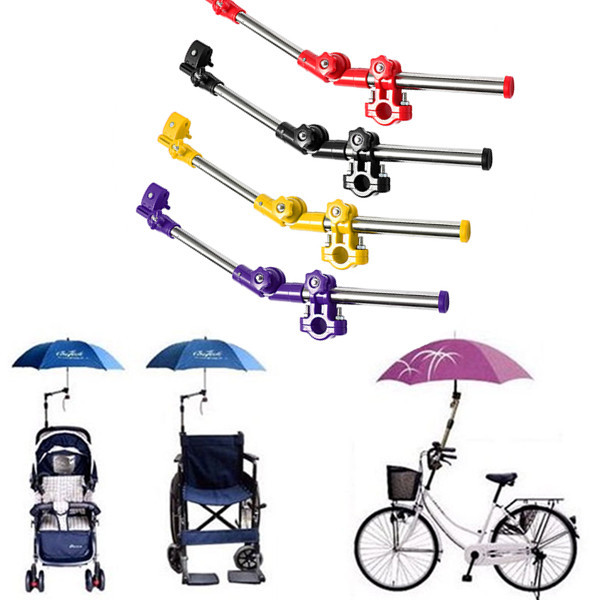 Hot Stainless Steel Multiuse Stands Bike Wheelchair Stroller Chair Umbrella Holder Connector Stand Supporter(China (Mainland))