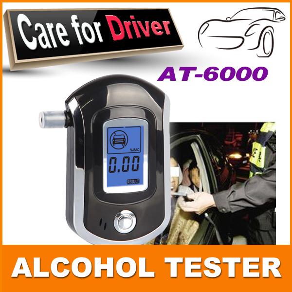 2015 NEW Hot selling Professional Police Digital Breath Alcohol Tester Breathalyzer AT6000 Free shipping Dropshipping(China (Mainland))