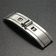 Brand New Silver WatchBand Stainless Steel Butterfly Deployment Clasp Buckle 5mm 6mm for Steel Watchbands