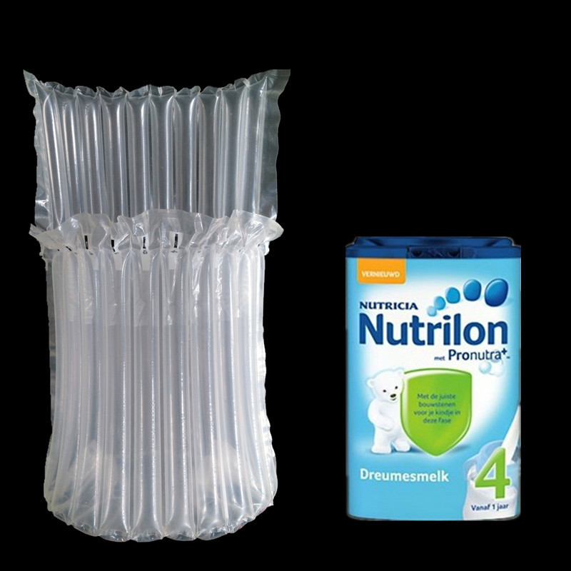 DHL 100Pcs/ Lot 13*21cm 900g Powdered Canned Clear Poly Air Bubble Column 10 Column For Easy Broken Anti Pressure Storage Bag(China (Mainland))