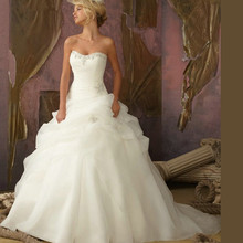 Beading White / Ivory A Line Sweetheart Bridal Gown