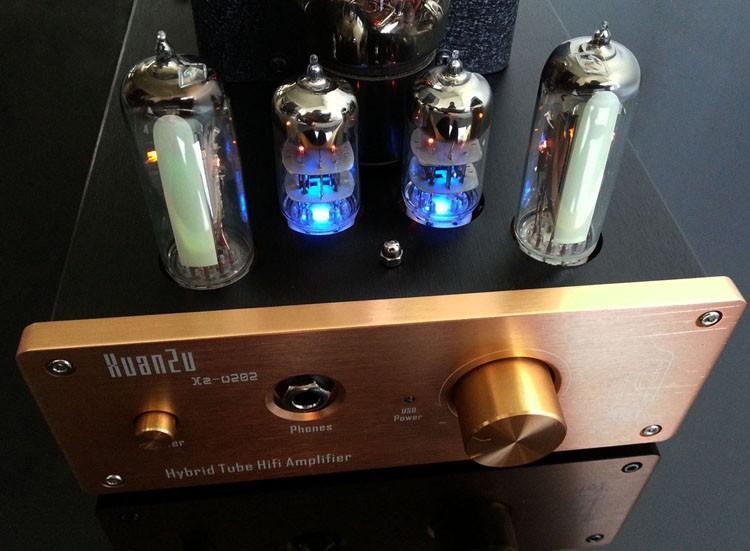 ถูก XZ-เสียงU202ที่มีคุณภาพสูงหูฟัง/หูฟังแอมป์หลอด/ Pre-เครื่องขยายเสียงUSB/AUX/ อาร์ซีเอDACถอดรหัสเสียงAC110V/220โวลต์
