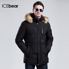 ICEbear 2015 Long Winter Men Clothing Outdoor Casual Jacket And Cotton  Parkas Male Big Napapijri Coat 15MD927(China (Mainland))
