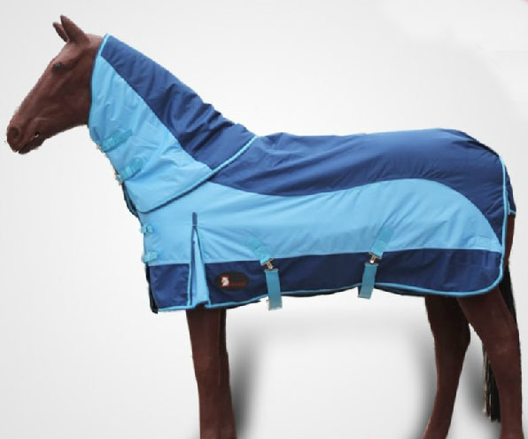 Latest Outdoor Horse Racing Cloth Autumn Water-Proof Warm Horse Rugs Blue Detachable Horse Harness Free Shipping