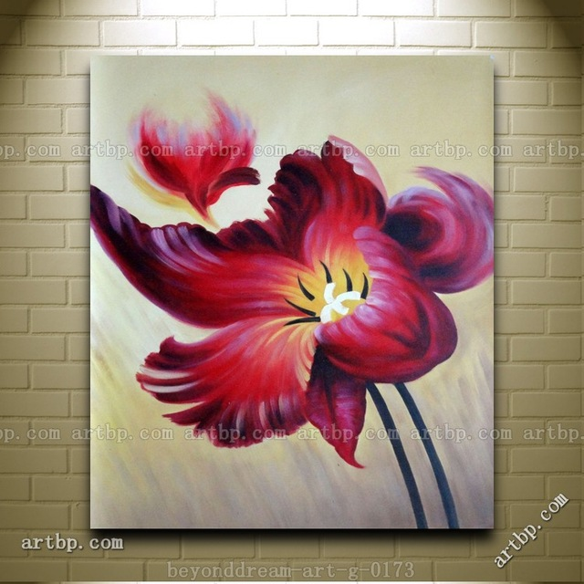 Buy blooming purple flowers handpainted for Painting large flowers in acrylic