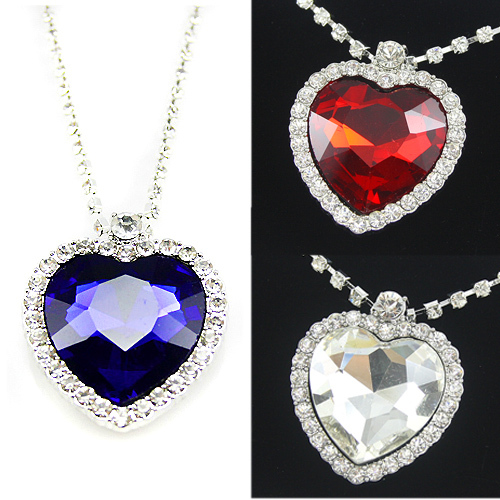 titanic heart of the ocean necklace Crystal silver -plated pendant Necklaces & Pendants topshop necklaces for 2016 women nke-h25(China (Mainland))