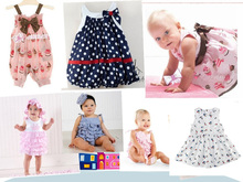 HB Brand Retail wholesale baby dress/soft and cute bowkont princess dress baby girl/sleeveless cool summer kid/HoneyBaby HB0038(China (Mainland))