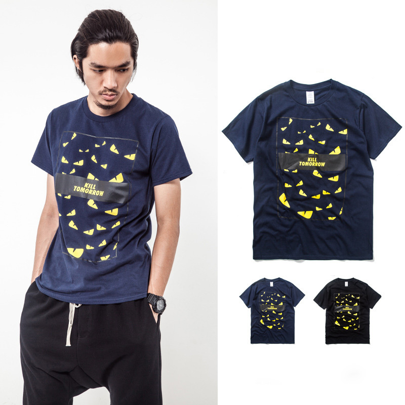 New Japanese Fashion Stylish Men 39 S Short Sleeve Casual T Shirt High Quality Cotton Slim Fit T