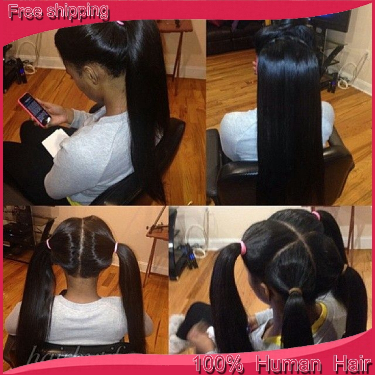 how to set rollers on african hair : Buy 2016 Silky Straight Full Lace Human Hair Wigs With High Ponytail ...