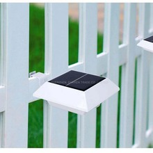 Free ship by DHL Solar Fence Light Solar Power Garden Security Lamp Outdoor Waterproof wall Lights led lamps For Outdoor(China (Mainland))