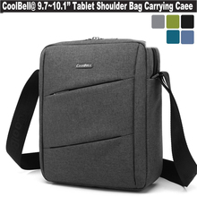 CoolBell Unisex Laptop Shoulder Bag Suit Fabric Messenger Portable Tablet Sleeve Case For iPad Air 1 2 3, 9 9.7 10.1 Inch Tablet(China (Mainland))