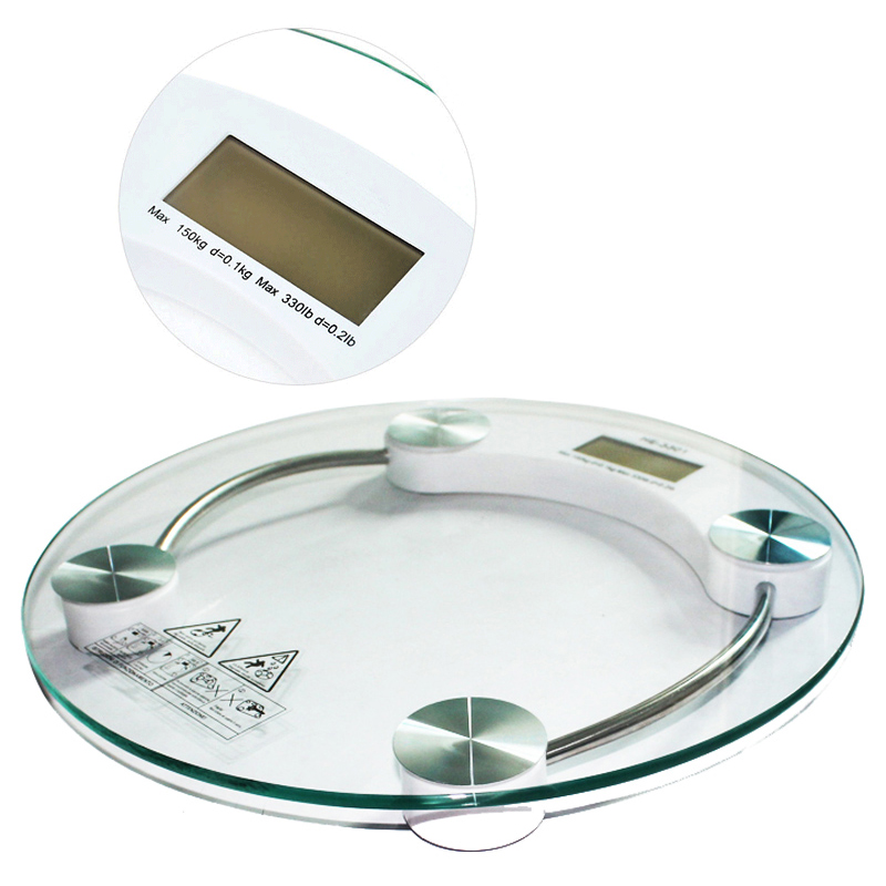 Digital LCD Electronic Glass Bathroom Weighing Scales Weight Loss Bath Health<br><br>Aliexpress