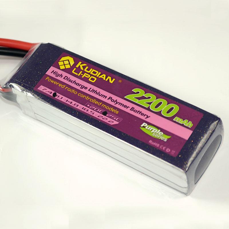 Kudian cool 1800/2200/2600mAh 7.4V 11.1V 25C nano battery series(China (Mainland))