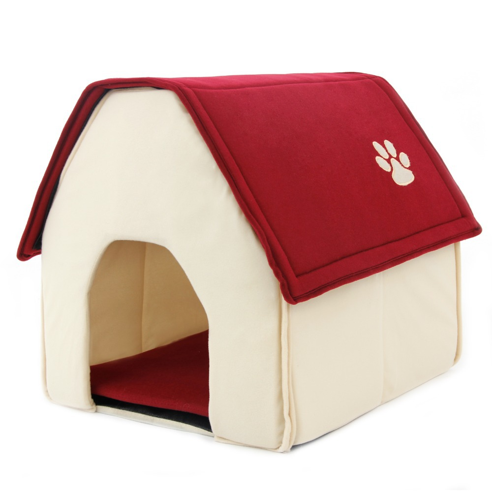 2015 New Arrival Dog Bed Cama Para Cachorro Soft Dog House Daily Products For Pets Cats Dogs Home Shape 2 Color Red Green