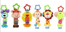 Baby Toys Rattle Tinkle Hand Bell Multifunctional Plush Stroller(China (Mainland))
