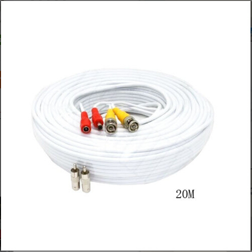 JRSE (15M) White BNC Video Power 2 in 1 Cable For CCTV Security Cameras/DVR Highly quality BNC cable(China (Mainland))