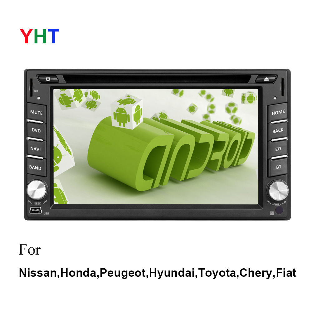 Free Rear View Camera 4.2 Capacitive Android Radio 2 Din Car PC GPS WiFi BT TV Navigation Universal Stereo DVD Player()