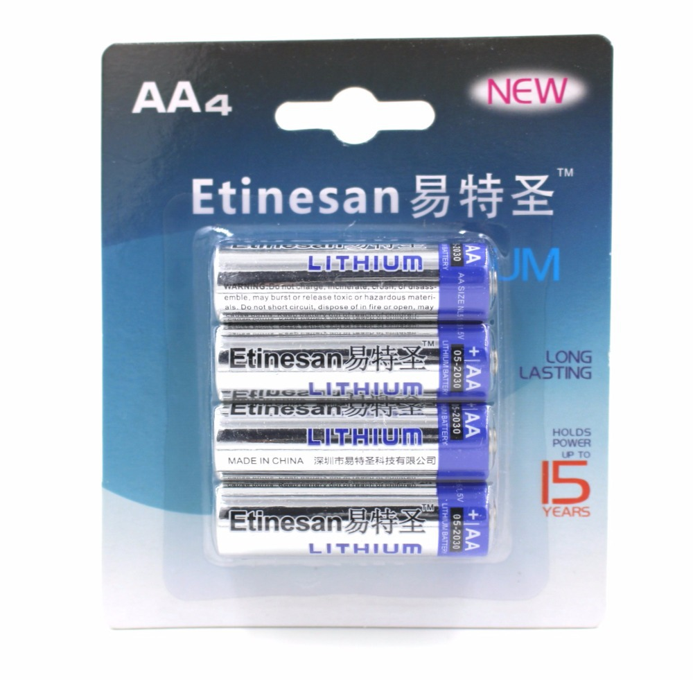 4pcs/lot SUPER Lithium 1.5V Powerful AA Primary Batteries li-ion Battery for camera,radio,toy Good quality.15-year shelf life(China (Mainland))