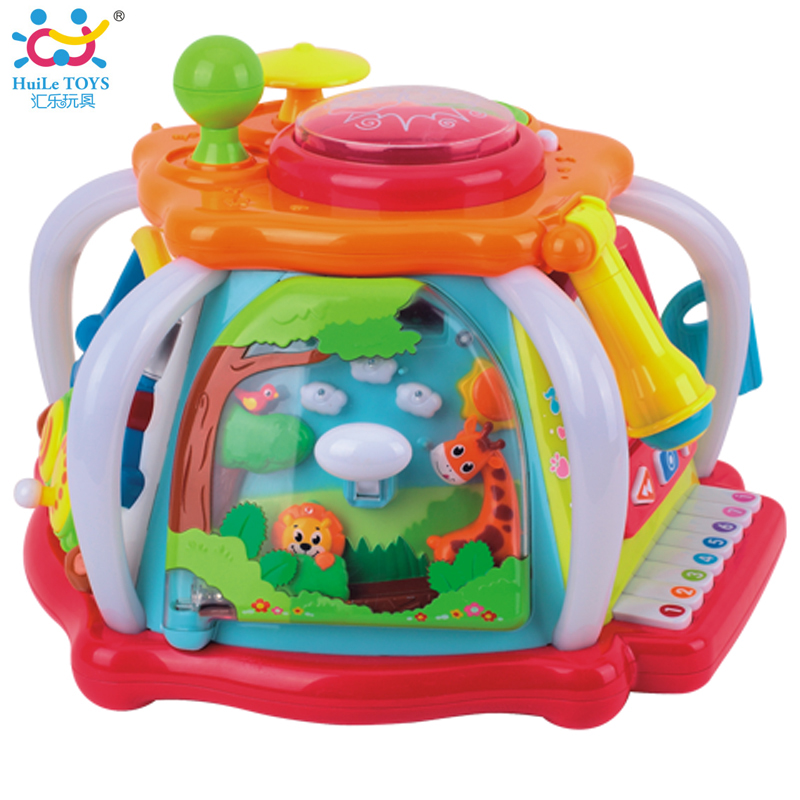 HUILE TOYS Developmental Baby Toys Deluxe Baby Musical Activity Cube Play Center with Lights,Tons of Functions & Skills Toy Gift(China (Mainland))