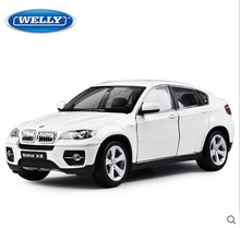 NEW X6 SUV Welly 1:24 Original simulation alloy car model RED Luxury SUV X5 SAV Fast & Furious Gifts for boys(China (Mainland))