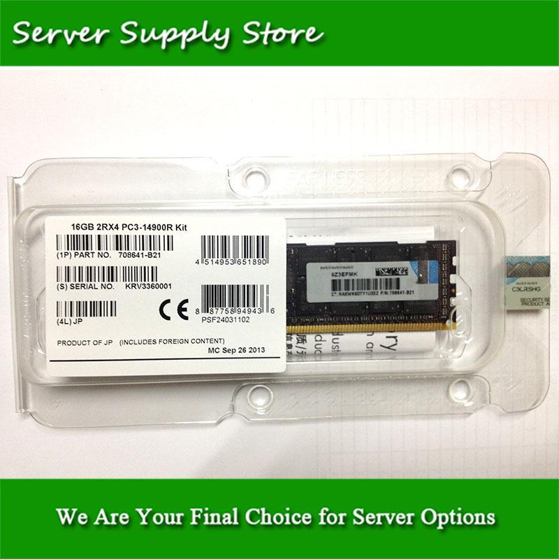 708641-B21 712383-081 715274-001 16GB (1x16GB) Dual Rank x4 PC3-14900R (DDR3-1866) Registered CAS-13 Memory Kit(China (Mainland))