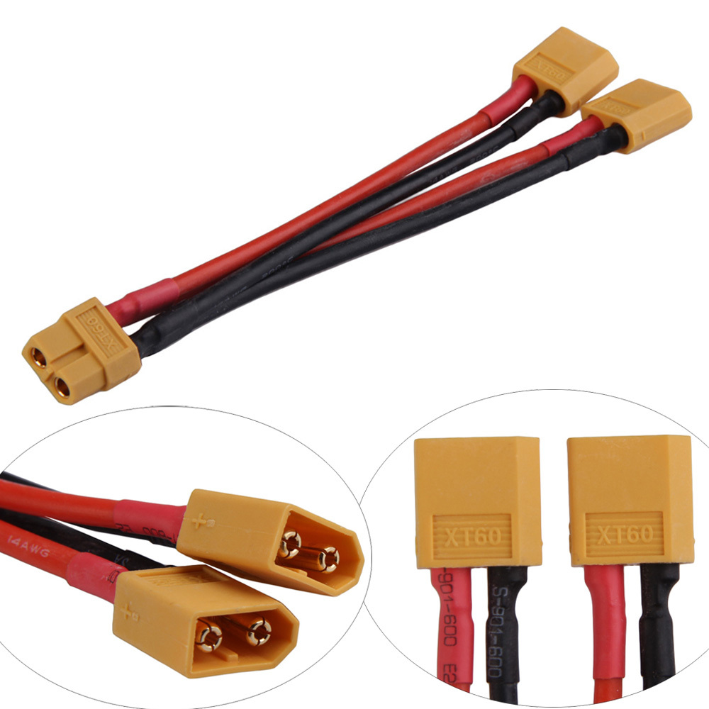 LS4G XT60 Parallel Battery Connector Cable Extension Y Splitter for DJI Phantom(China (Mainland))