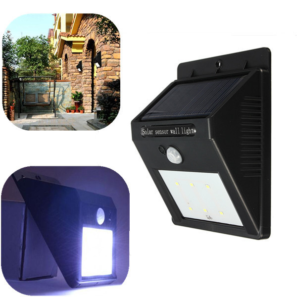 Solar Power 6 LED PIR Motion Sensor Light Outdoor Garden Wall Lamp  For waterproof Garden Lawn lamps Landscape Yard lights<br><br>Aliexpress