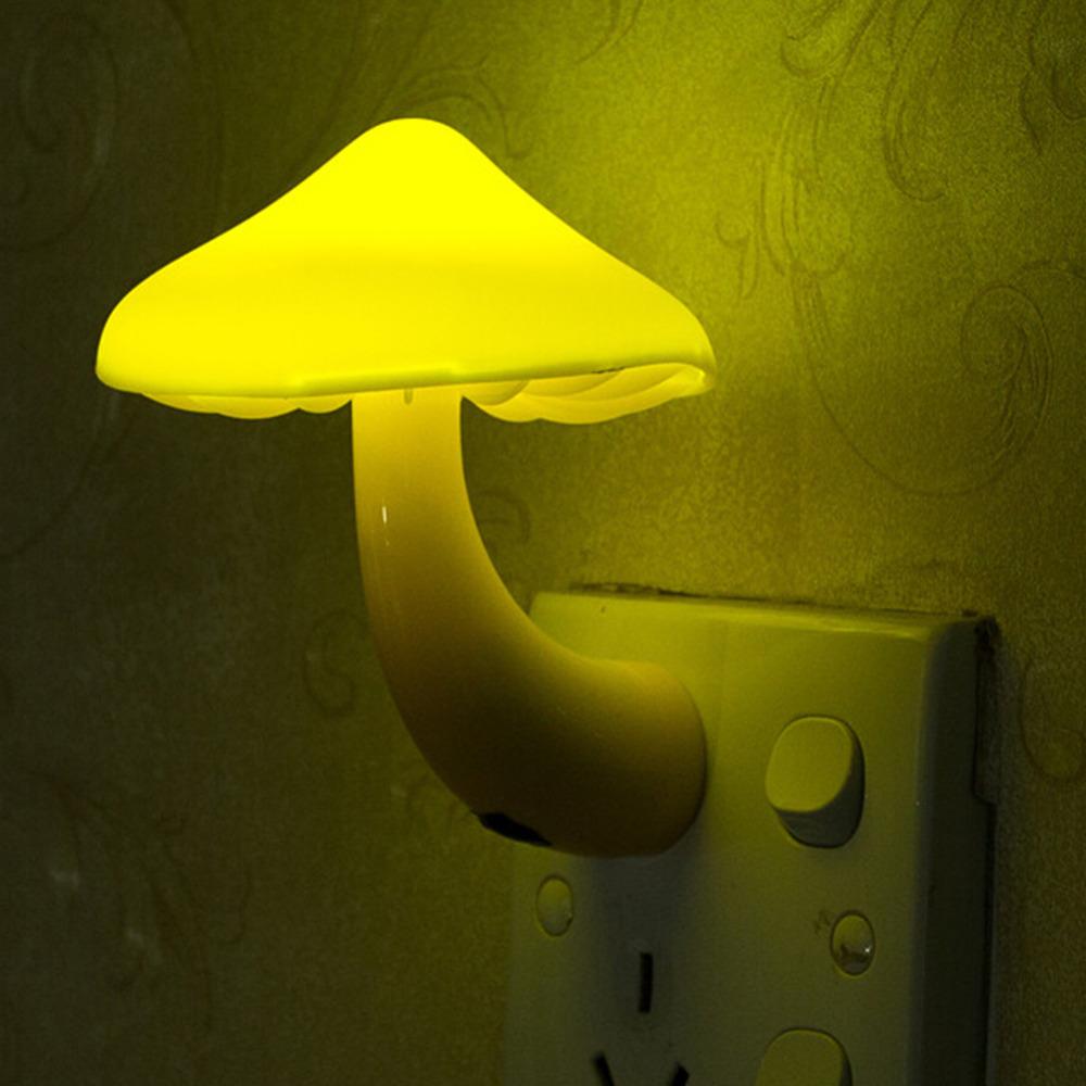Nightlight Lamp US/EU Plug For Creative Novelty Led Electric Induction Small Night Light mushroom Wall Lamp(China (Mainland))