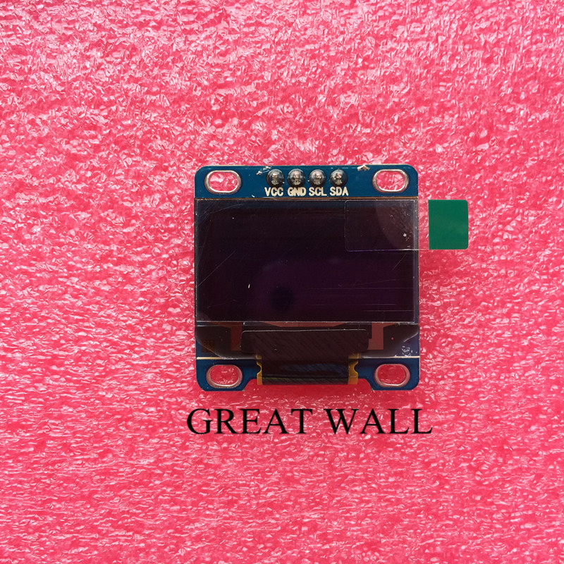 "5Pcs Yellow and Blue 128X64 OLED LCD LED Display Module For Arduino 0.96"" I2C IIC SPI Serial new original(China (Mainland))"