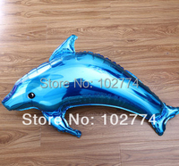 Wedding supplies high quality aluminum Large two-color dolphin balloon aluminum foil balloon