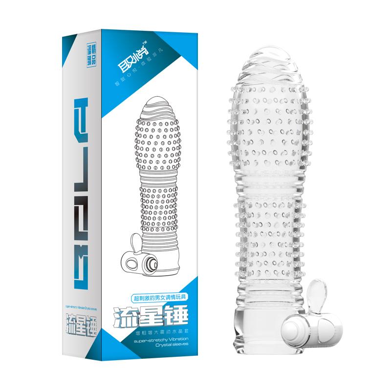 Crystal Penis Condom G-Spot vibrating condom<br><br>Aliexpress