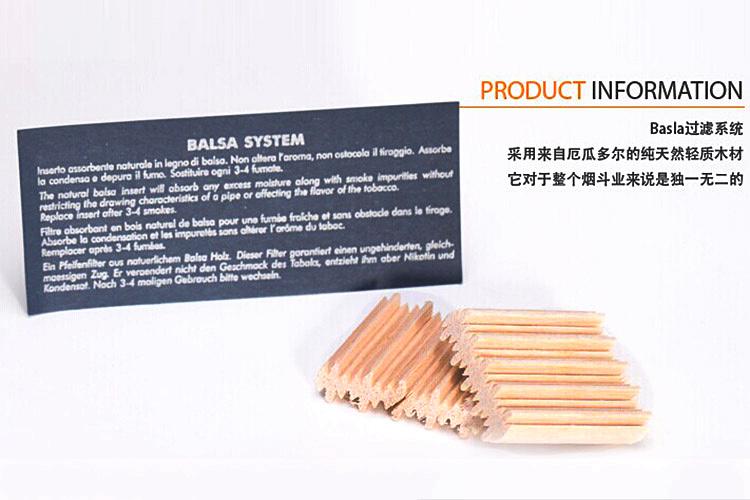 SAVINELLI safin smoking pipe filter core 9 mm wood core yanju accessories 15 pens(China (Mainland))