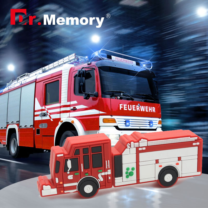 fire fighting truck pendrive truck usb flash drive Fire engine USB flash drive u disk 4GB 8GB 16GB 32GB flash memory sticks 64gb(China (Mainland))