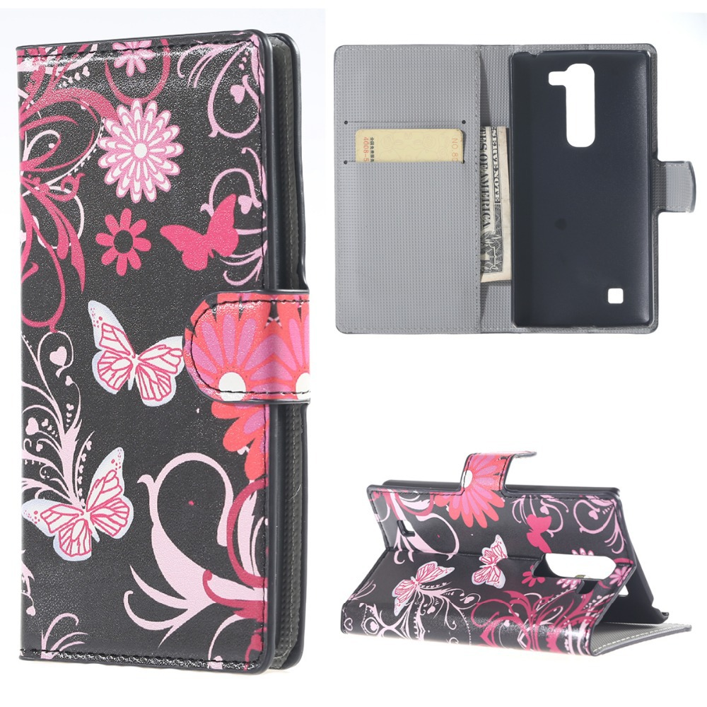 1 Pieces PU Painting Design Leather Cover Case For LG G4C H525N G4 mini With Card Slot Holder Mobile Phone Accessories Wholesale(China (Mainland))