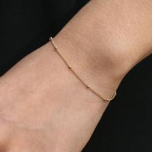 Gold Bead Bracelet, Thin Minimalist Bracelet, Dot, Tiny Dainty, Satellite Bracelet, Ftacking Bracelets for Women SH015
