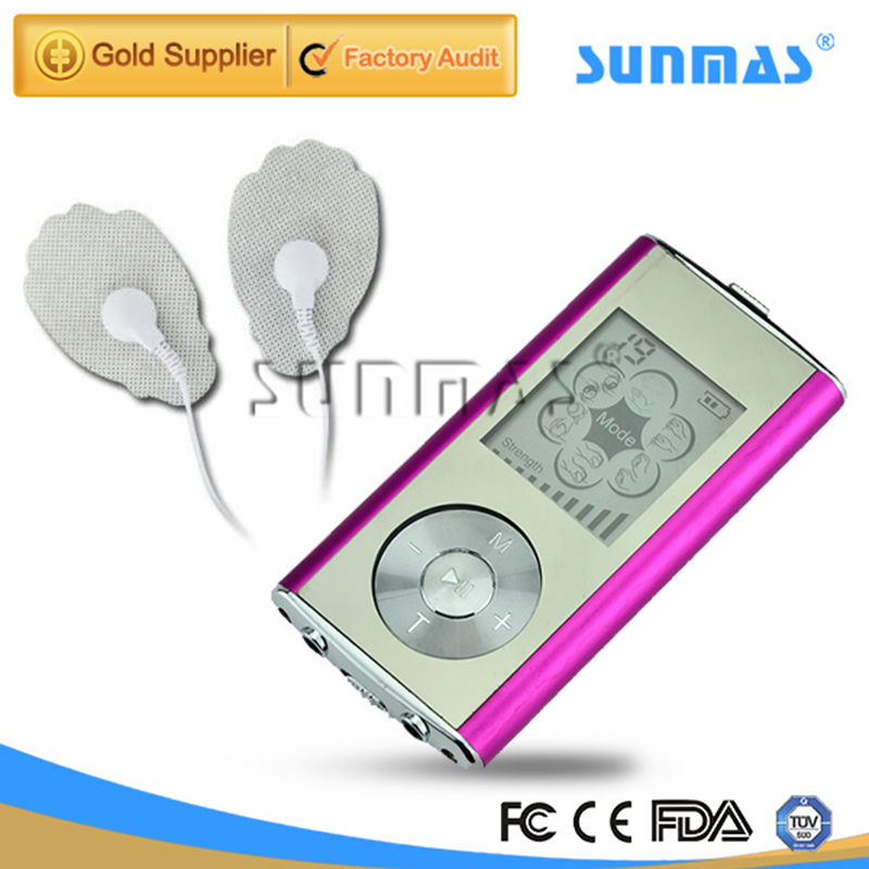 SUNMAS 6 Modes Massager Health Care SM9128 Portable Mini Tens Ems Massager Electronic Personal Body Massager(China (Mainland))