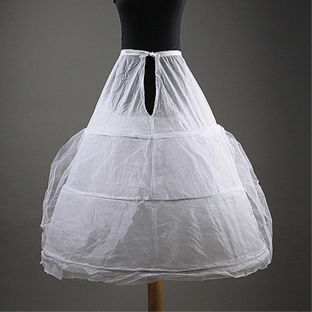 Free Shipping Bridal Petticoats for Wedding Dresses 3-Hoop Double-Layer Crinoline Prom Underskirt Wedding Petticoats White(China (Mainland))
