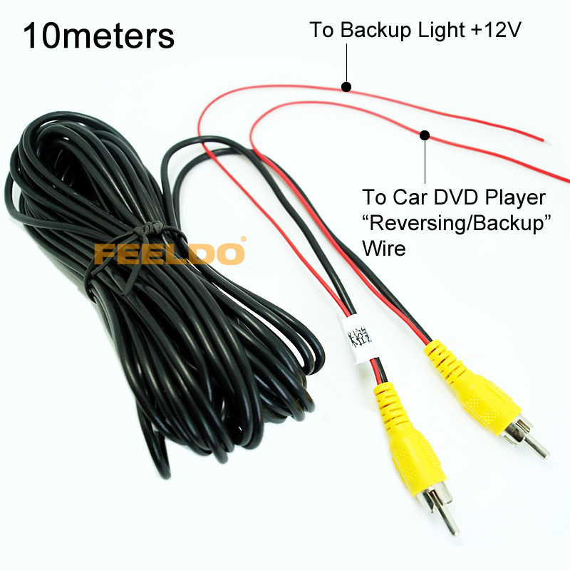 10Pcs 10M Car RCA Reversing Camera Video Cable With Spcial Reversing/Backup Detecting Wire #FD-4544<br><br>Aliexpress