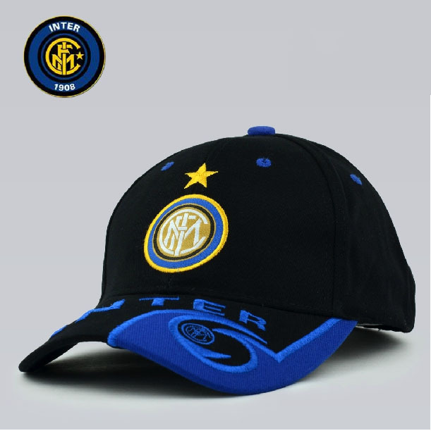 2014 New Soccer Club Inter Milan Baseball Cap Hat Sport Embroidery Badge Inter Milan Peaked Cap Free Shipping(China (Mainland))