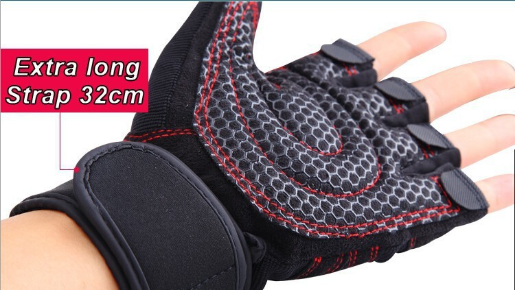 Strong Gym Fitness Gloves Power Luvas Fitness Academia Anti skid Guantes Protective Crossfit Gym Gloves Weight